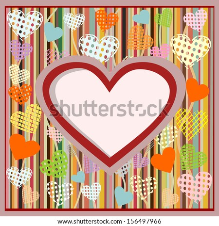 Valentine's Day Card. - stock vector