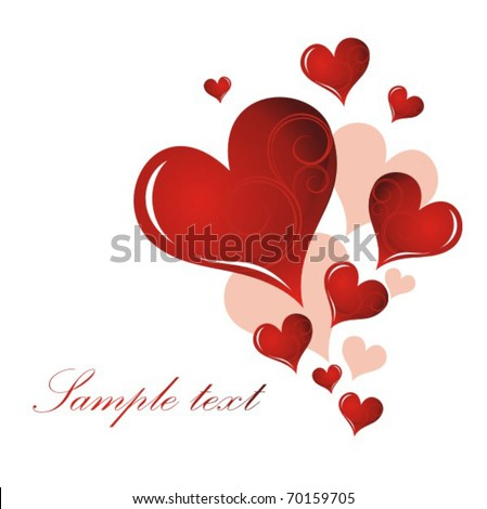 Valentine`s day card - stock vector