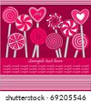 Valentine's Day Card/ Background - stock vector