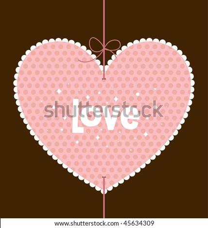 valentine's day card design - stock vector