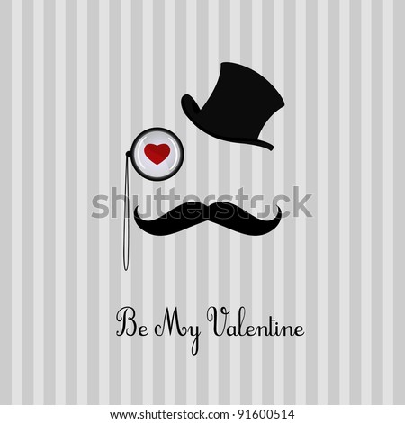 Valentine's day card design - stock vector