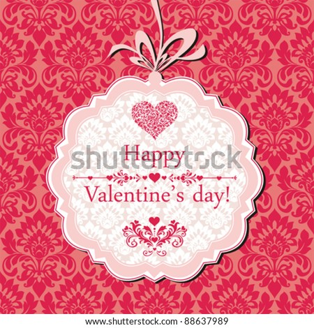 Valentine's day card design. Vector Illustration - stock vector