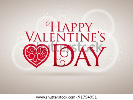 Valentine's Day Card. Editable vector illustration. CMYK color mode. Print ready. All elements are layered separately in vector file. - stock vector