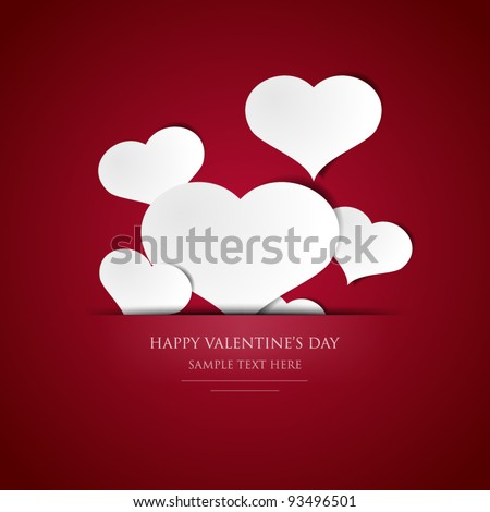 Valentine's Day card - EPS10 - stock vector