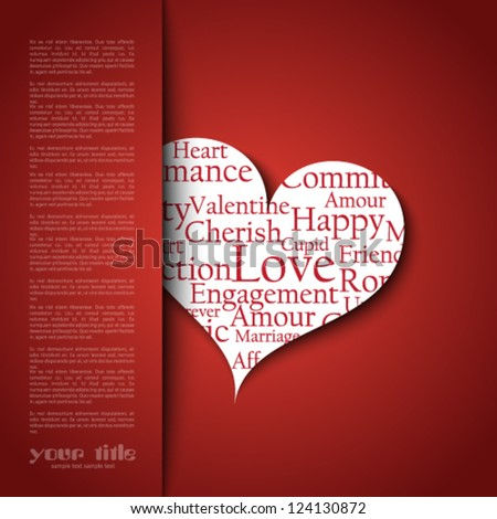 Valentine's Day card template - stock vector