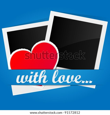 Valentine's Day card. Vector illustration. - stock vector