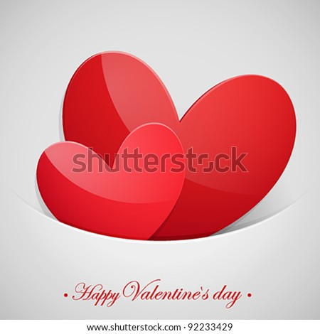 Valentine`s Day card with hearts and place for text.