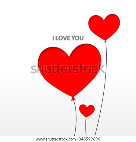 Valentine's Day Design Background - stock vector