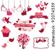 Valentine's Day Design Elements - stock