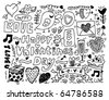 Valentine's Day doodle - stock vector