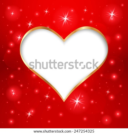 valentines day frame on red star stock vector 247254325 - shutterstock, Ideas