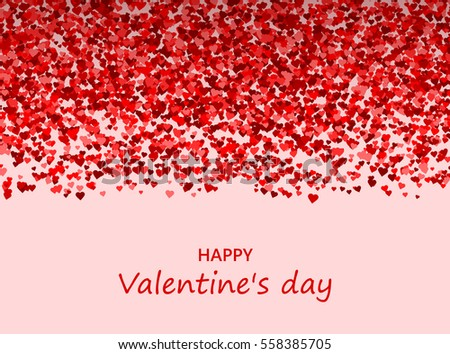 Valentines Day Greeting Card Lots Hearts Stock Vector 558385705 ...