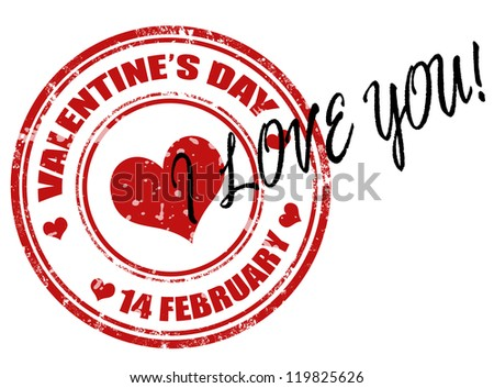 Valentine's Day grunge rubber stamps,vector illustration - stock vector
