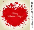 Valentine's day heart - stock vector