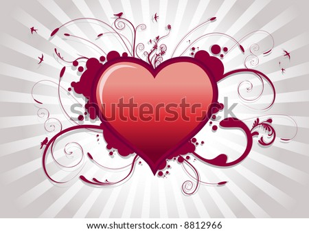 Valentine's day heart. - stock vector