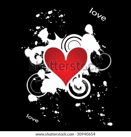 Valentine's day heart banner - stock vector