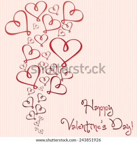 Valentine's Day heart card in vector format. - stock vector