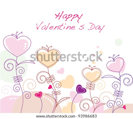 Valentine's day heart shaped flowers