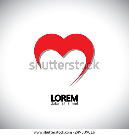 valentine's day heart simbol or vector icon. This also represents expressing love, positive feelings, heartfelt emotions of deep love, etc - stock vector