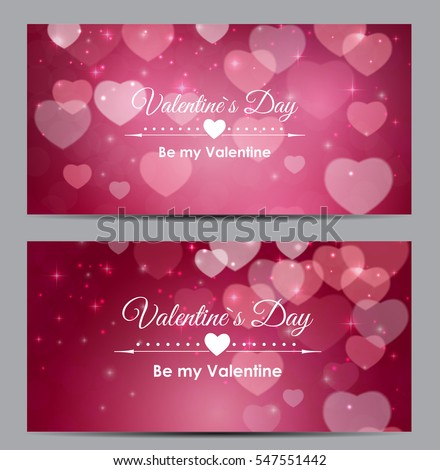 Valentine's Day Heart Symbol Gift Card. Love and Feelings Background Design. Vector illustration EPS10