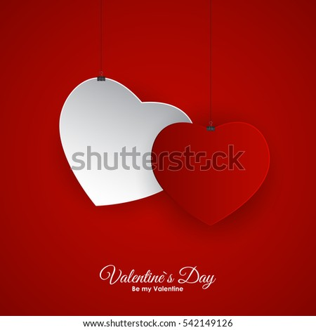 Valentine's Day Heart Symbol. Love and Feelings Background Design. Vector illustration EPS10