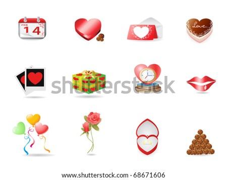 Valentine's day icon - stock vector