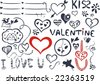 valentine's day icons - stock vector