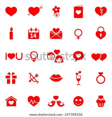 Valentine's Day icons set. - stock vector