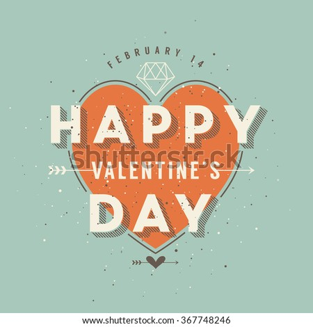 Valentine's Day illustration - stock vector