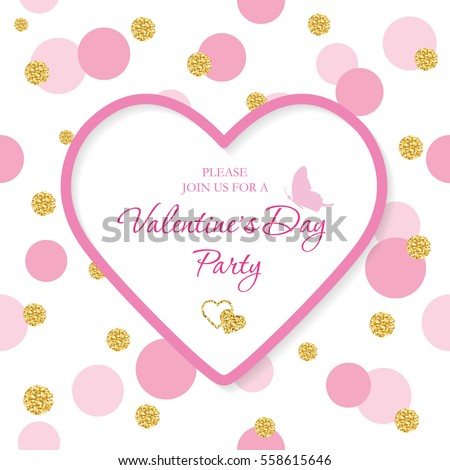 Valentines Day Border Images RoyaltyFree Images Vectors – Valentine Party Invitation Template