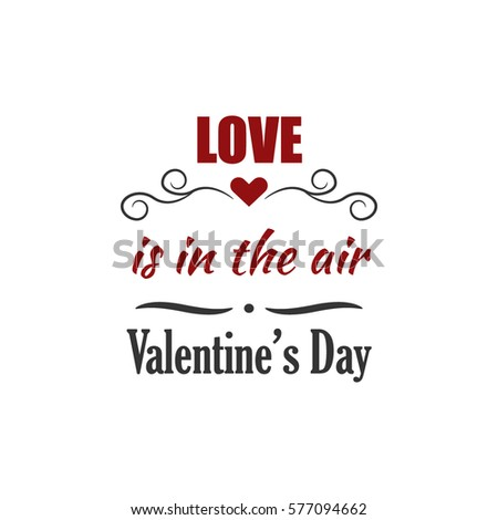 Valentines Day Label Stock Vector   Shutterstock