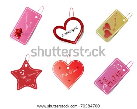 Valentine's Day labels - stock vector