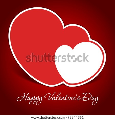 Valentine's day or Wedding vector background with hearts. eps 10