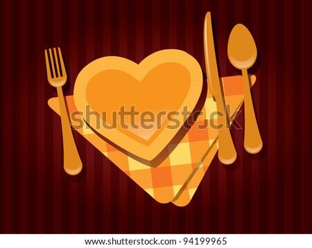 Valentine's day restaurant - stock vector