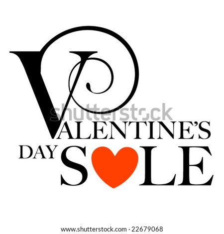 Valentine's Day Sale - stock vector