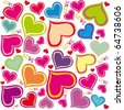 Valentine's Day. Seamless pattern with hearts - stock vector