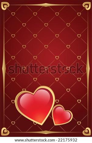 valentine's day vector background - stock vector