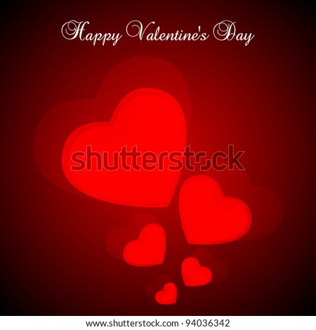 Valentine's Day Vector Background - stock vector
