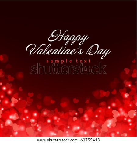 Valentine's day vector background with abstract hearts - stock vector