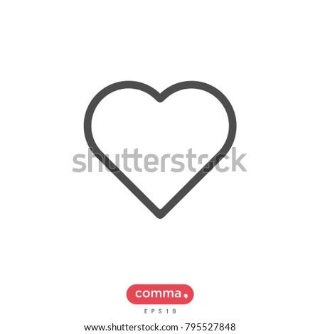 Valentines Day Vector Icon Heart Symbol Stock Vector 2018