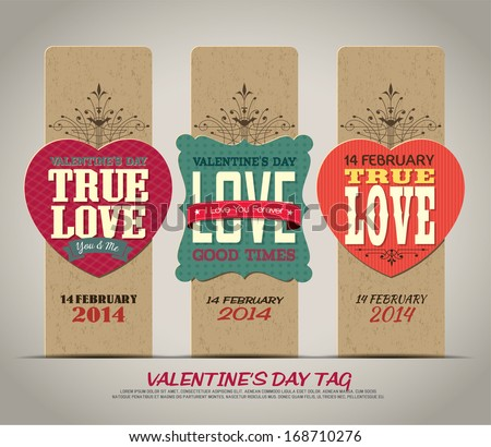 Valentine's Day with Love tag