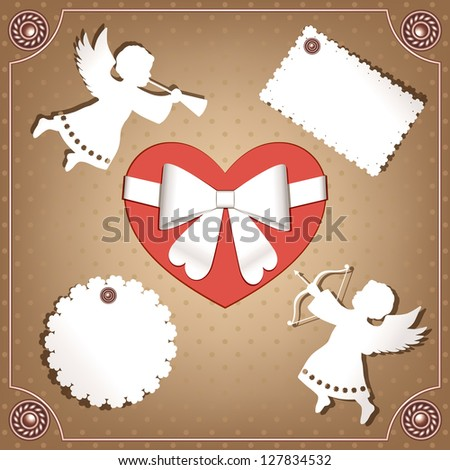 Valentine's design elements - stock vector