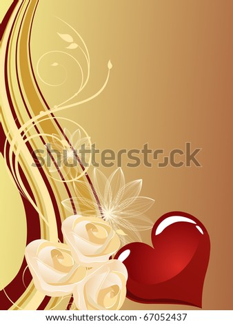 valentine`s design - vector - stock vector