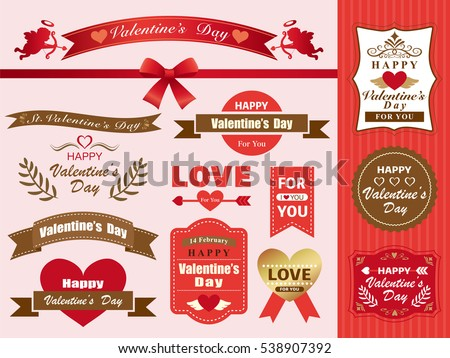 Valentine's label material set
