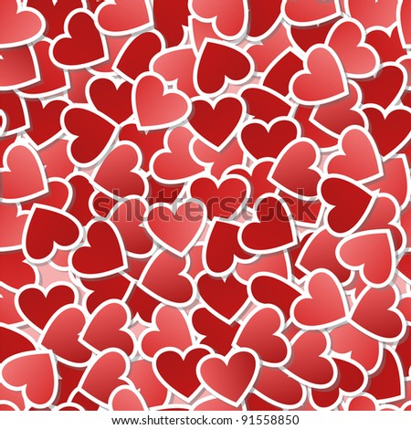 Valentine  seamless background - stock vector