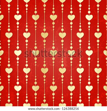 Valentine seamless hearts pattern. EPS 10 vector. - stock vector