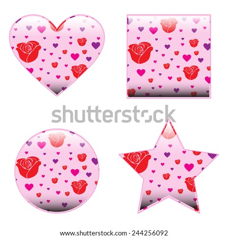 Valentine Shapes - stock vector