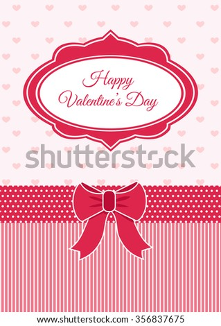 Valentine Vector Pink Vintage Label Happy Stock Vector