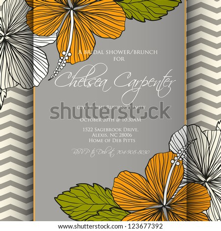 Valentine.Wedding card or invitation with abstract floral background. Greeting postcard in grunge or retro vector Elegance pattern with flowers roses floral illustration vintage style - stock vector