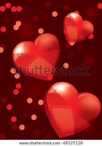 Valentines background - stock vector